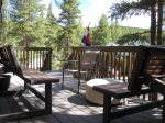 The benches convert to a table so you can enjoy your meal in the Rocky Mountain outdoors.