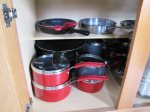 great selection of pots and pans