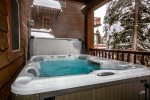 Watch the snowfall from the comfort of the hot tub
