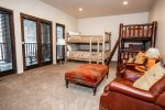 Families will love the bunk room Twin over Twin bunk and Queen over Queen bunk