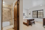 Two twin over twin bunks and two sets of twin over full bunks