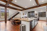large spacious kitchen with ample storage and granite countertops
