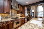Viking stainless steel appliances and gorgeous granite countertops