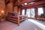 3rd floor Master Bedroom has King Size Bed, flat screen tv, and stunning view