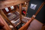 The multiple levels of this gorgeous Ptarmigan Village home from the stairwell
