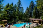 Enjoy the outdoor pool at Ptarmigan Village in the summer