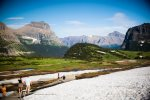 Fantastic views while you hike in Glacier Park