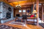 The perfect Montana retreat Beautiful wood and Art throughout the home.