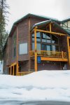 Wood Run Cottage in winter offers a plethora of snow to make endless turns.