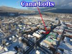 Cana Lofts Penthouse 302 a perfect location in Downtown Whitefish Montana.