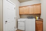 Stainless steel appliances and granite counters