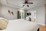 The deck off the kitchen has a grill for more delicious options