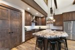 Vaulted ceilings provide plenty of natural light
