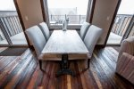 Enjoy the views of the mountains from your dinner table that seats 4