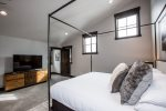Master suite has a deep tub for an extra relaxing bath