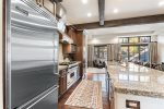 Master Bath with his and hers sinks, large tub and gorgeous tile shower