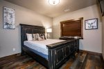 One bedroom features a comfortable queen size bed