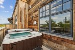 Aerial view of the 2nd Street Loft Building. Loft 304 is a penthouse apartment