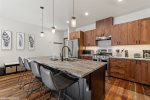 All matching stainless steel appliances