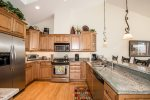 With new updated appliances and beautiful design, this kitchen Is fun to cook In