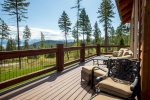 Comfortable deck, great for relaxing and enjoying the view of Flathead Lake
