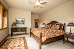 Enjoy the sunrise from the comfort of your king size bed in the downstairs suite