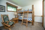 Rustic feeling bunk room