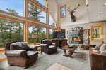 Enjoy the view of Whitefish Lake while relaxing on the deck