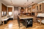 Enjoy preparing a meal in this large, well stocked kitchen