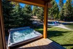 Take your pick Enjoy the outdoor hot tub or relax out by the fire pit