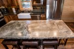 Custom made kitchen island with seating for 4