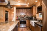 Custom Retreat at the Pines kitchen island