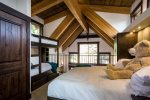 The loft features a king bed and two twins with an ensuite bathroom