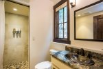 Four bathrooms throughout Cedar Chalet for added convenience