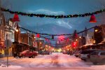 Downtown Whitefish is magical during the Christmas Season