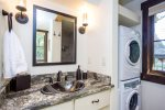 The main level full bath includes a washer and dryer for your use.