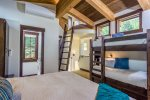 The loft sleeps four, 2 twins and one king bed with ensuite bathroom