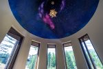 Relax underneath the stars in the turret and watch the skiers go by
