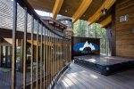 Private hot tub on the spacious patio