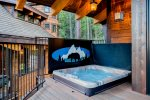 You`ll love relaxing in your own private hot tub after a long day skiing