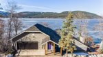 Enjoy the amazing view of the lake from the hot tub at Whitefish Lake House