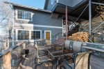 Bedroom in the apartment has a twin/queen bunk and an extra twin bed.