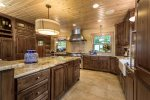 Enjoy preparing a meal in this large gourmet kitchen