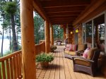 Enjoy the view from this beautiful wrap around deck