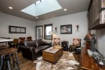 Western themed  Central Loft 304 condo has an open floor plan.