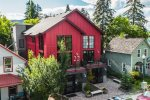 Plenty of seating to enjoy a lovely evening on the communal rooftop patio