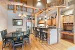 Gorgeous kitchen and dining area seats 9