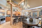 Gourmet kitchen with stainless steel appliances and granite counters