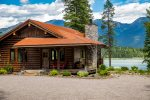 This Bigfork property has incredible mountain and lake views