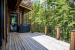 Large deck with gas grill for outdoor fun
